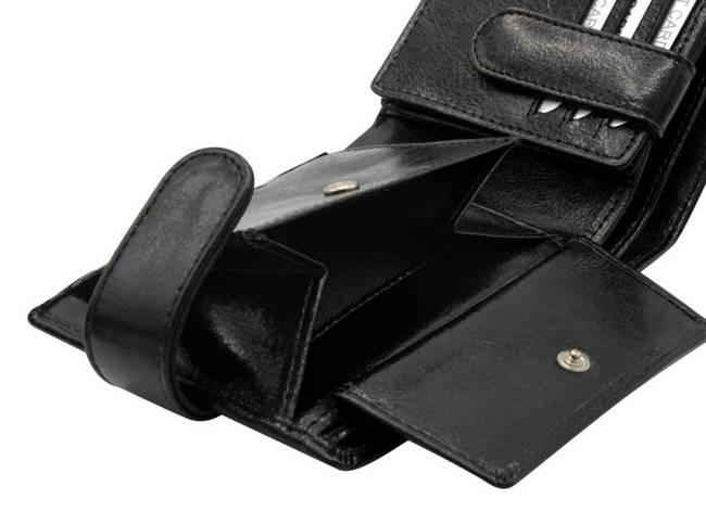 Portfel męski czarny Rovicky  GWR-01-R-9225 BLACK