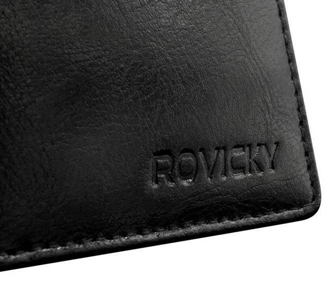 Portfel męski czarny Rovicky GWR-08-ARI-9386 BLAC