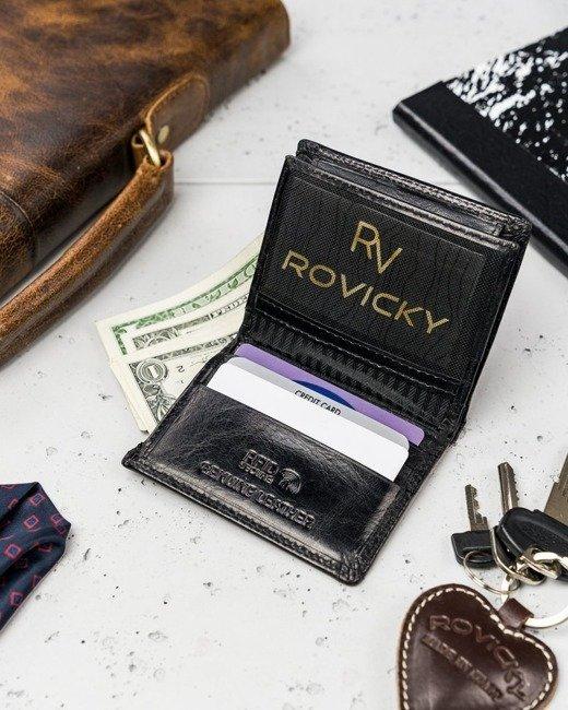 Portfel męski czarny Rovicky N1911-RVTK BLACK