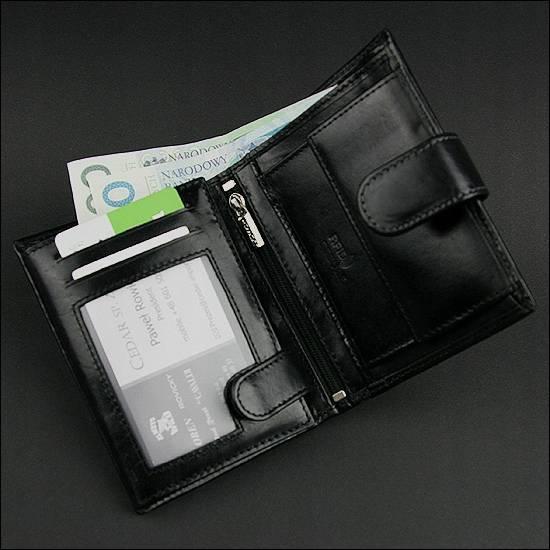 Portfel męski czarny Rovicky N4L-VTR BLACK RFID
