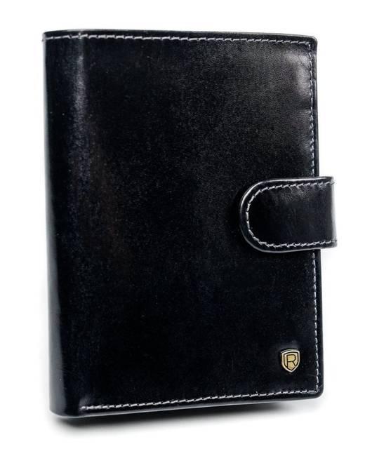 Portfel męski czarny Rovicky N62L-RVT BLACK