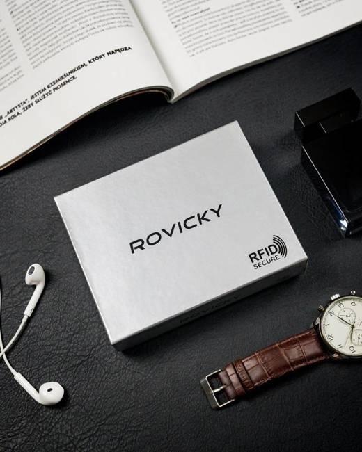 Portfel męski czarny Rovicky W-2007-BAR-6507 BLAC