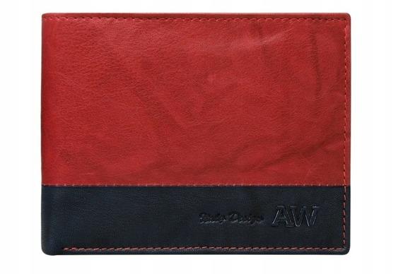 Portfel męski skórzany Always Wild N992-GA czerwony