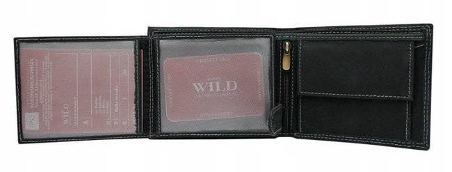 Portfel męski skórzany Always Wild N992-JEANS czarny