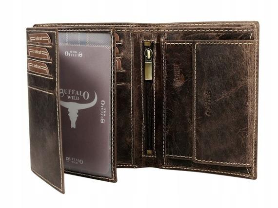 Portfel męski skórzany Buffalo Wild RM-03-BAW brązowy