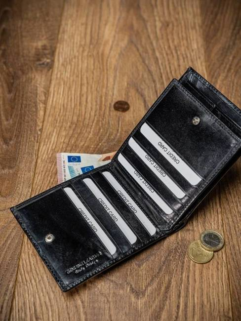 Portfel męski skórzany RFID Pierre Andreus N01-VT-NL czarny