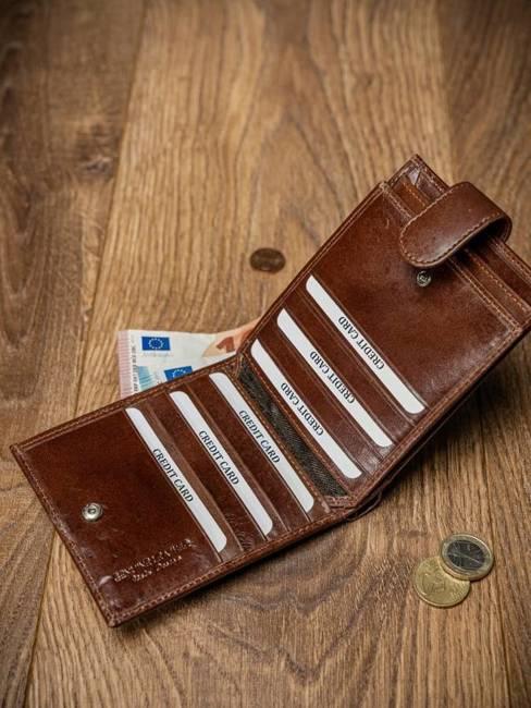 Portfel męski skórzany RFID Pierre Andreus N01L-VT-NL brąz