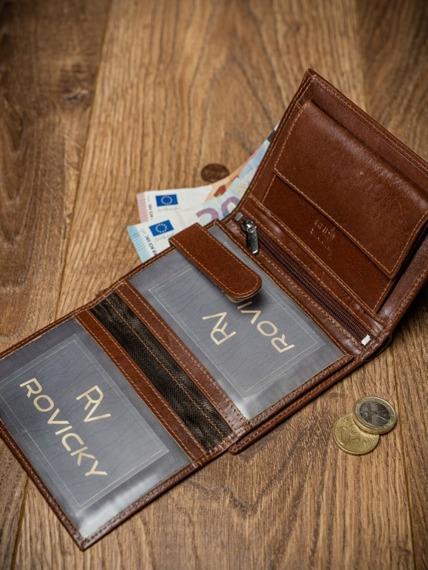 Portfel męski skórzany RFID Pierre Andreus N104-VT-NL brąz