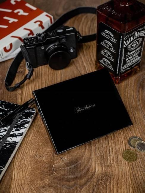 Portfel męski skórzany RFID Pierre Andreus N104-VT-NL czarny