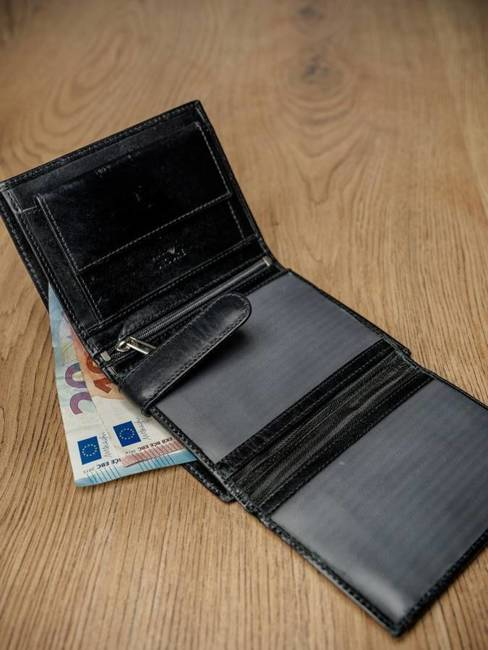Portfel męski skórzany RFID Pierre Andreus czarny