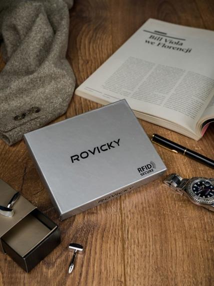 Portfel męski skórzany RFID Rovicky N992-VT2