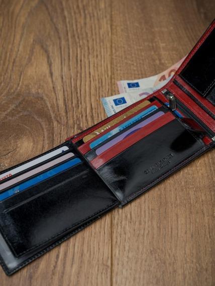 Portfel męski skórzany RFID Rovicky N992-VT2 czarno-czerwony