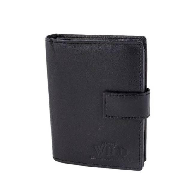 Portfel męski skórzany czarny ALWAYS  WILD N4L-CCF-RFID Black