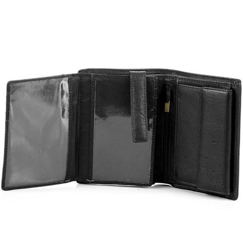 Portfel skórzany DAAG Alive P-07 vintage czarny w pudełku