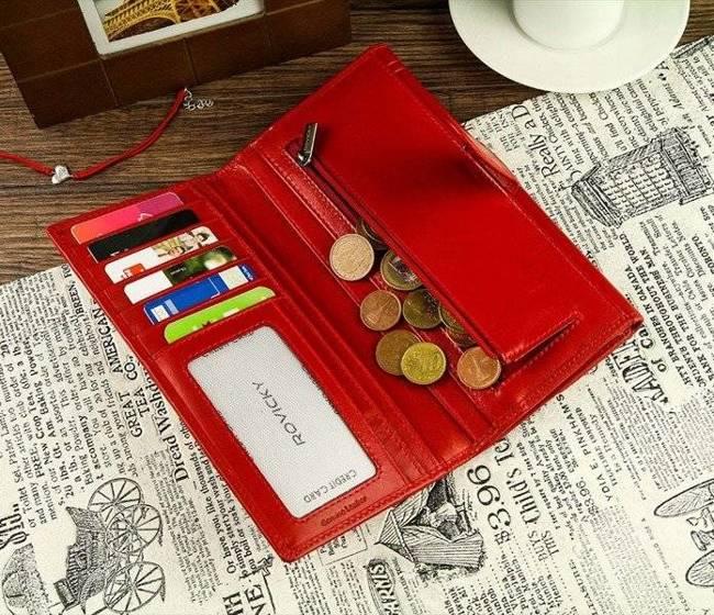Portfel skórzany czerwony ROVICKY LI-2698-BAR
