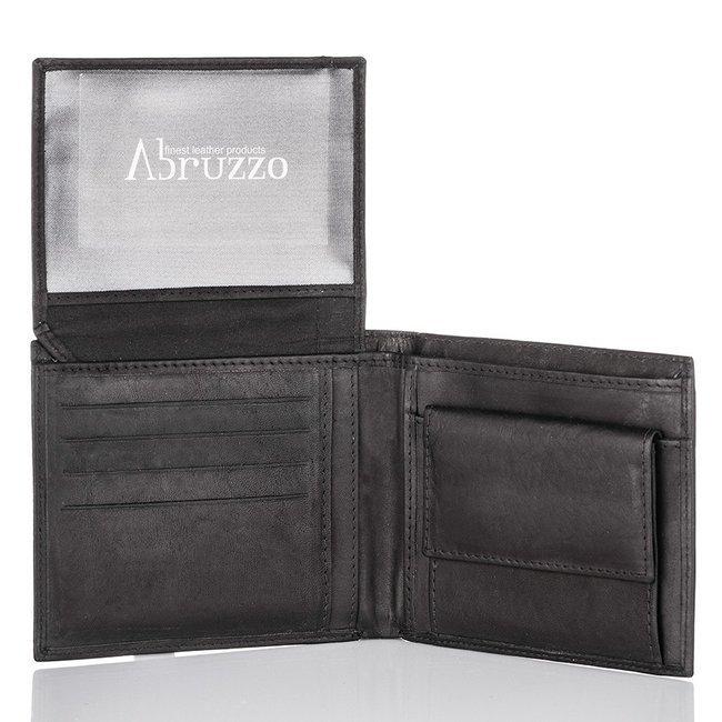 Portfel skórzany męski Arbuzzo czarny AB-2299