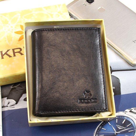 Portfel skórzany męski KRENIG Classic 12004 czarny