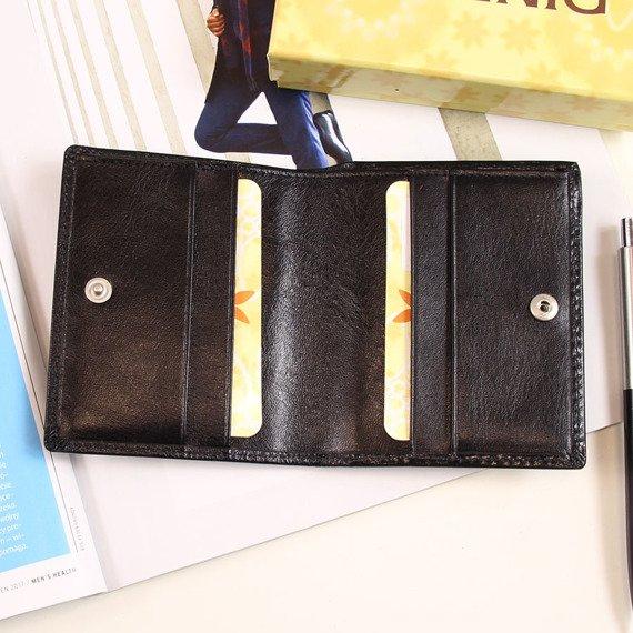 Portfel skórzany męski KRENIG Classic 12050 czarny w pudełku
