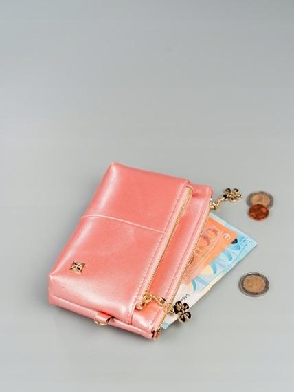 126a9b191020c Portmonetka damska mini kosmetyczka różowa Milano Design -  20849 ...