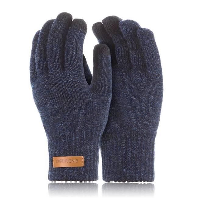 Rękawiczki męskie zimowe do smartfonów Brodrene R1 granatowe