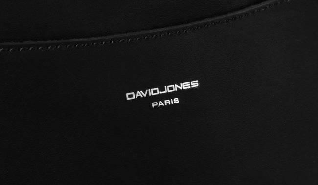 Saszetka damska nerka czarna David Jones CM5707 BLACK