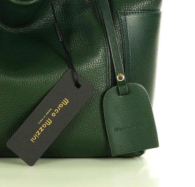 Shopper bag MARCO MAZZINI c. zielony s270c