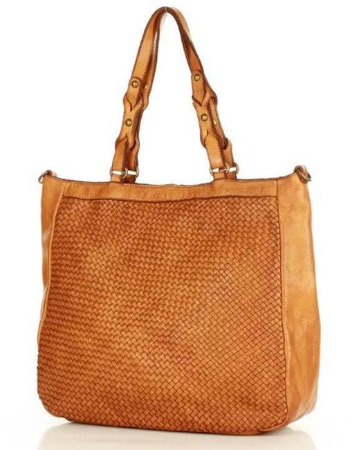Shopper bag Marco Mazzini camel v165b