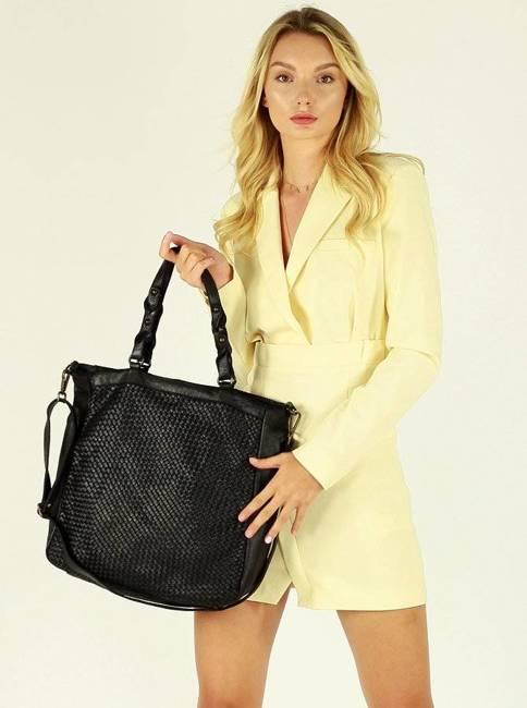 Shopper bag Marco Mazzini czarny v165a