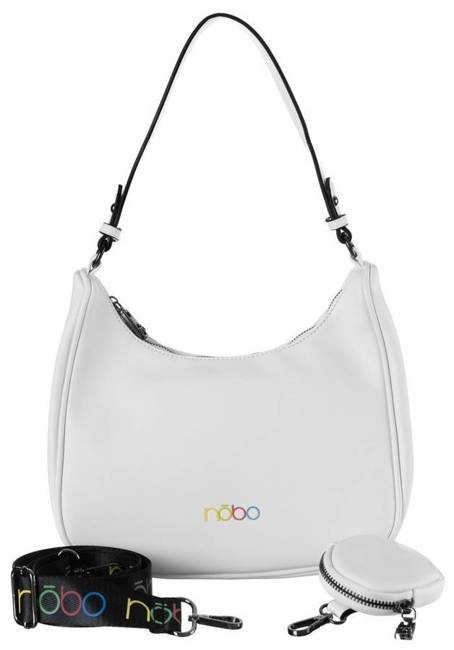 Shopper bag biały Nobo NBAG-K3300-C000