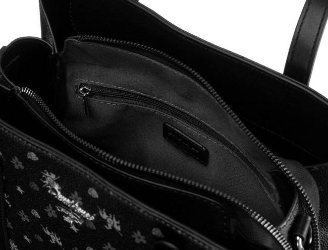 Shopper bag czarny David Jones CH21003 BLACK