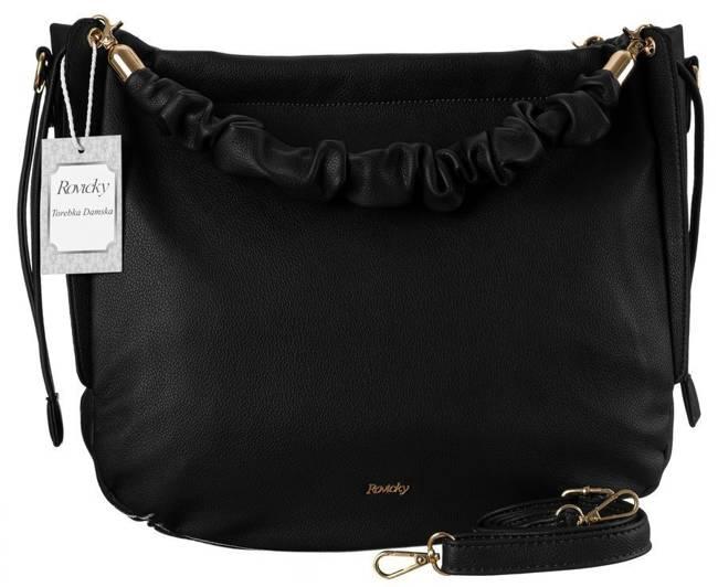 Shopper bag czarny worek Rovicky TY21-02-R-4898 BLACK