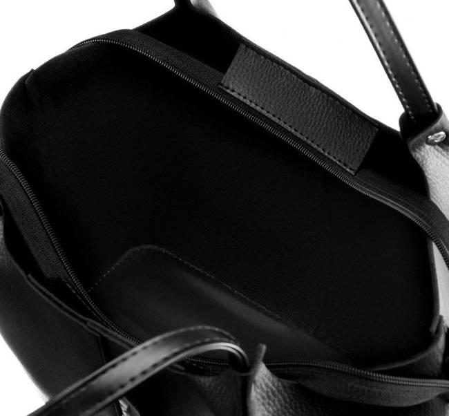 Shopper bag damski Rovicky 1335 CZARNY