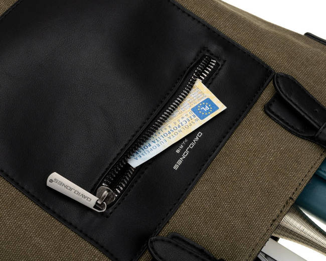 Shopper bag khaki David Jones 6623-1 KHAKI