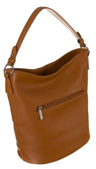 Shopper bag koniakowy David Jones 6518-1 COGNAC