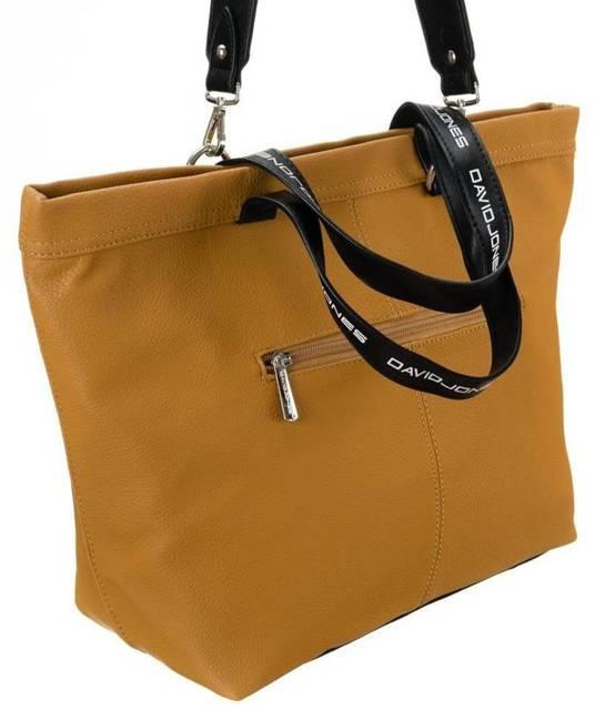 Shopper bag musztardowy David Jones CM5628 MUSTARD