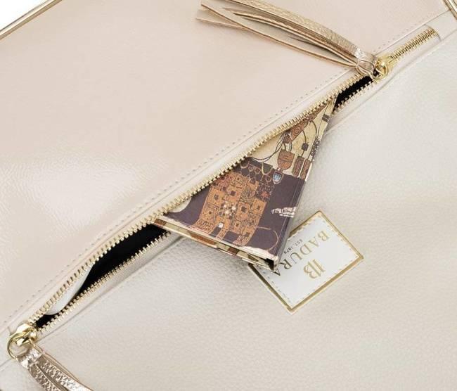 Shopper damski beżowy Badura T_D163BE_CD