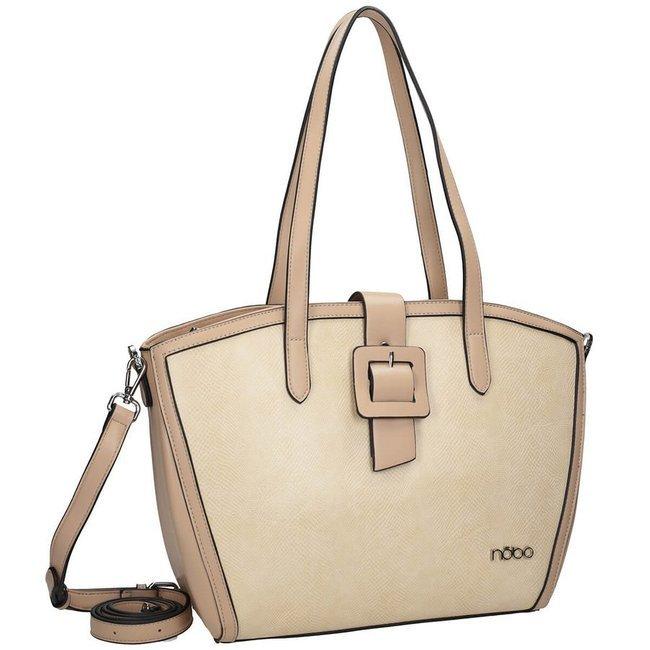 Shopper damski beżowy Nobo NBAG-K0050-C015