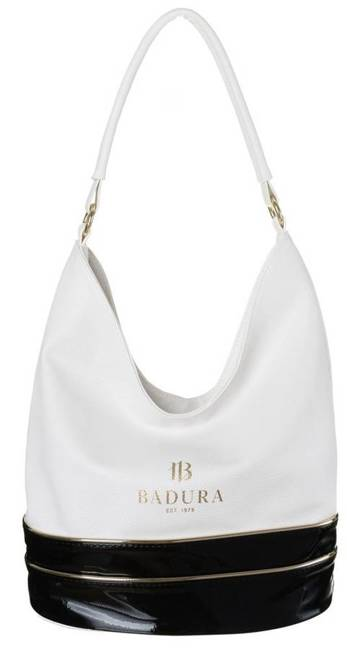 Shopper damski biało-czarny Badura T_D222BI/CZ_CD