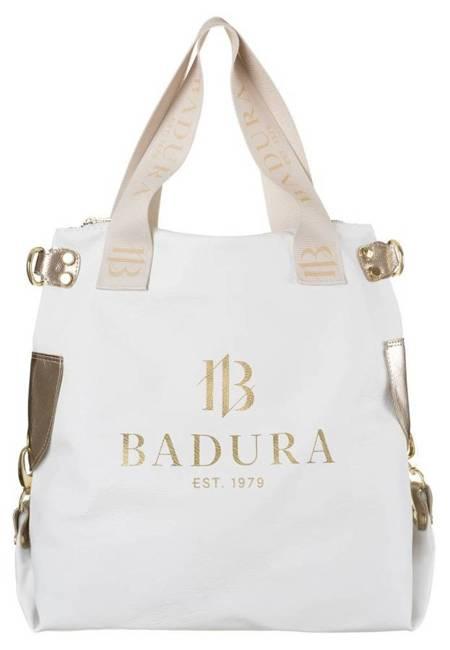 Shopper damski biało-złoty Badura T_D147BI/ZŁ_CD