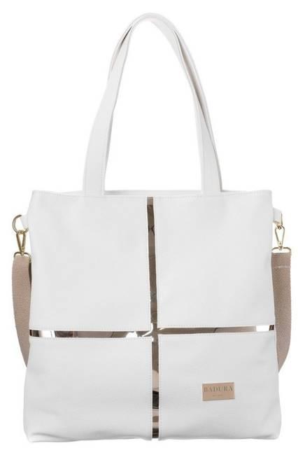 Shopper damski biały  Badura T_D176BIA_CD