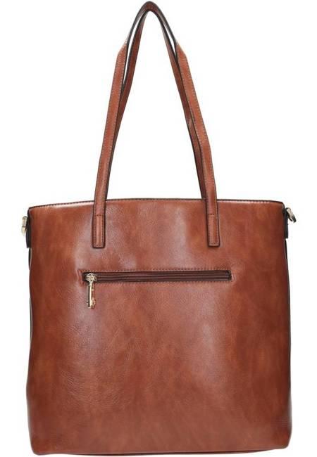Shopper damski brązowy Nobo  NBAG-K2320-C017