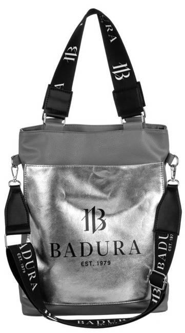 Shopperka szara, srebrna kieszeń Badura T_D134SZ_CD