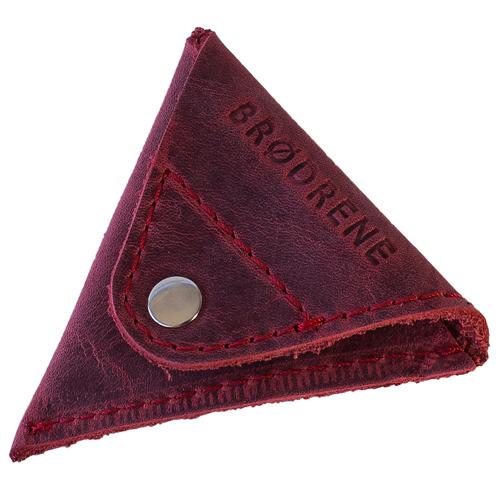 Skórzana bilonówka coin wallet BRODRENE CW01 czerwony