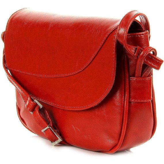 Skórzana damska listonoszka DAN-A T181 czerwona