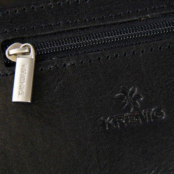Skórzana saszetka etui na pasek KRENIG Classic 12033 czarna