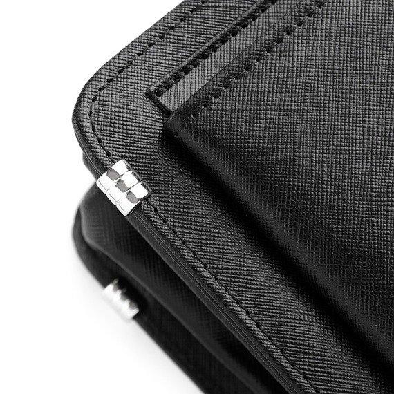 Skórzana teczka aktówka męska na laptopa PAOLO PERUZZI GA157 czarna