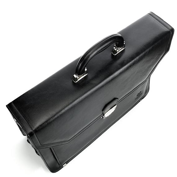 Skórzana teczka aktówka męska na laptopa PAOLO PERUZZI GA161 brązowa