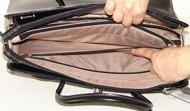 """Skórzana teczka damska Mcklein Lake Forest 94335 na laptopa 15,4"""" czarna"""