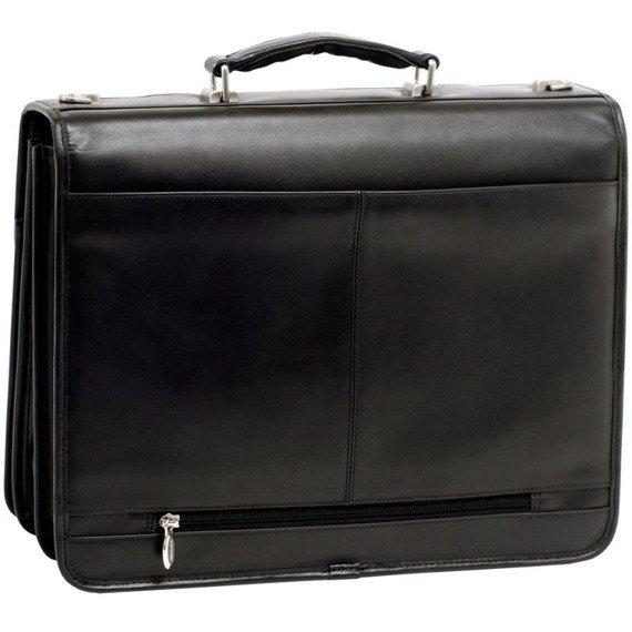 """Skórzana teczka męska Mcklein Flournoy 85955 na laptopa 15,4"""" czarna"""