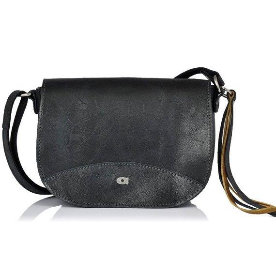 Skórzana torba damska DAAG Jazzy Wanted 111 czarna